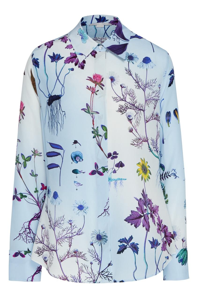 Шелковая блуза Willow с цветочным принтом