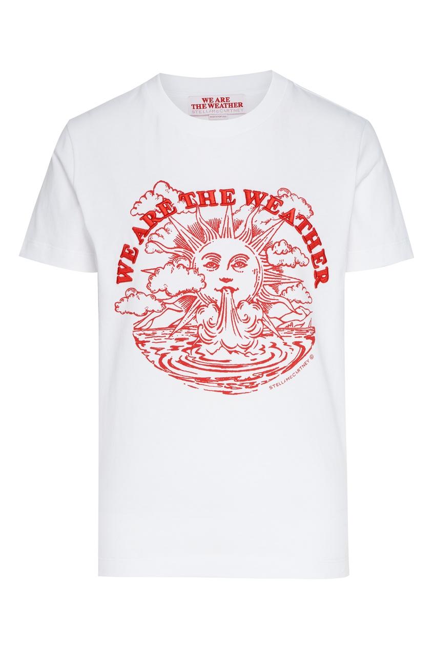 женская футболка с принтом stella mccartney, белая