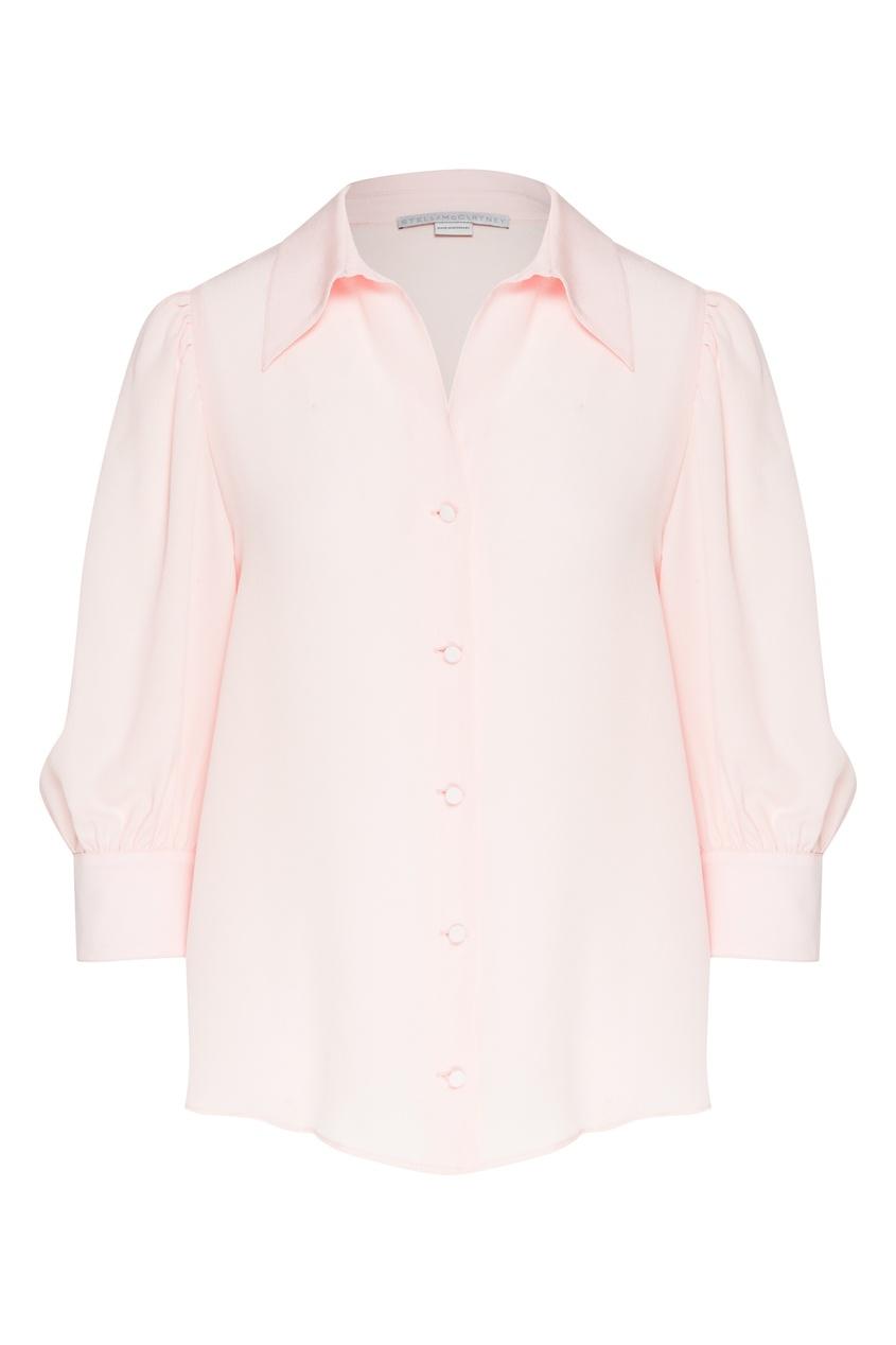 женская шелковые блузка stella mccartney, розовая