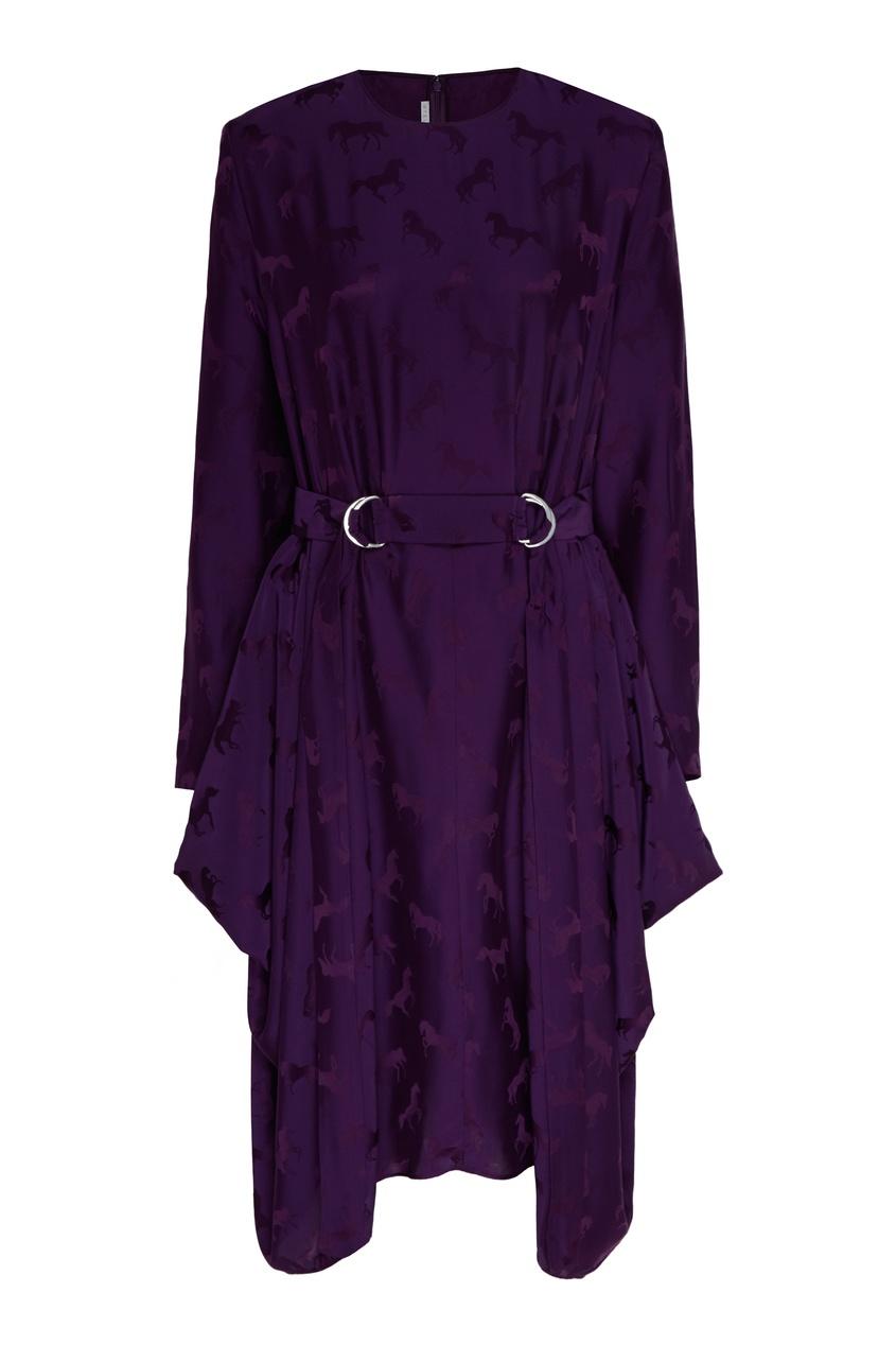 женское платье stella mccartney, фиолетовое