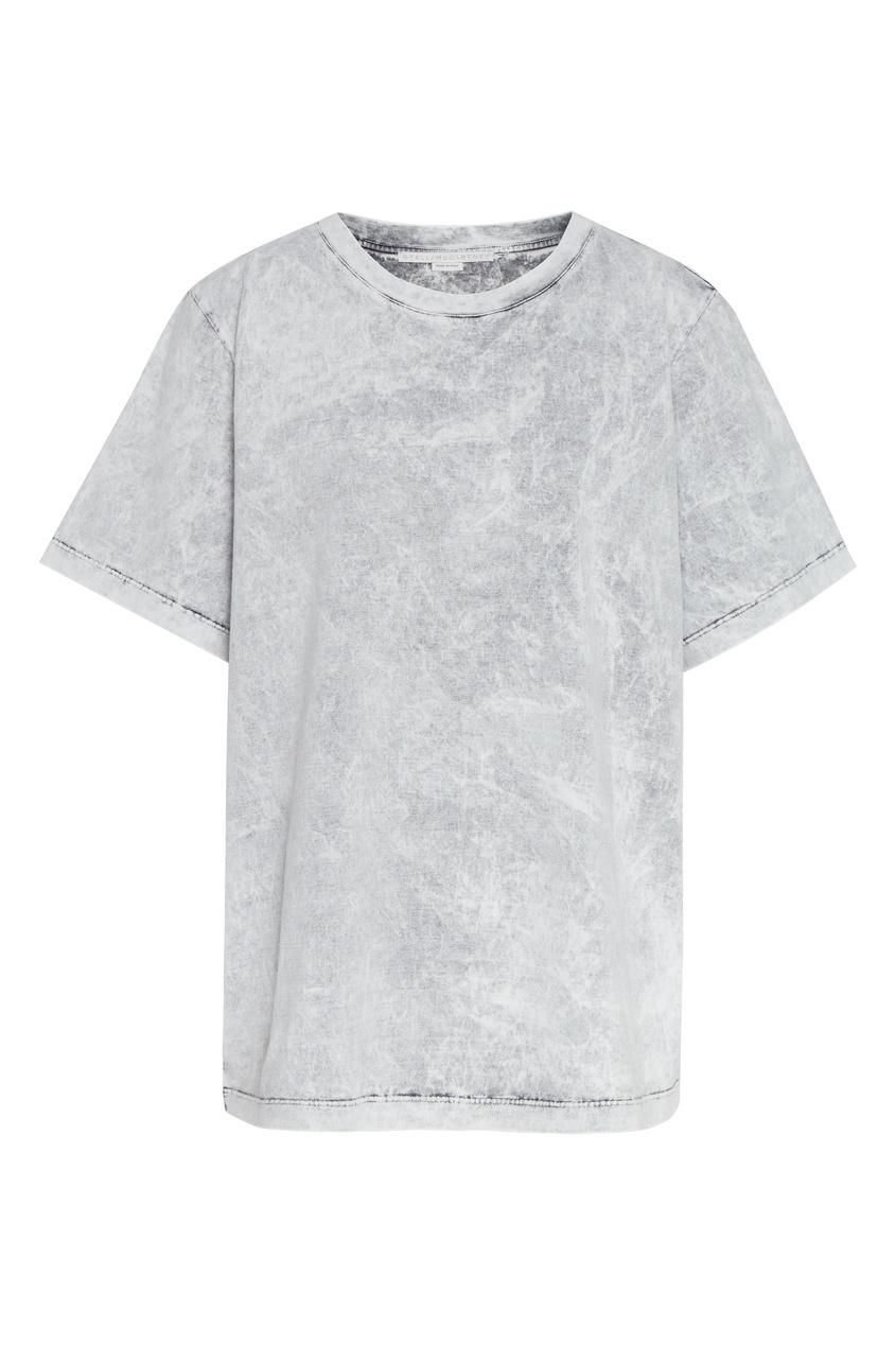 женская футболка stella mccartney, серая