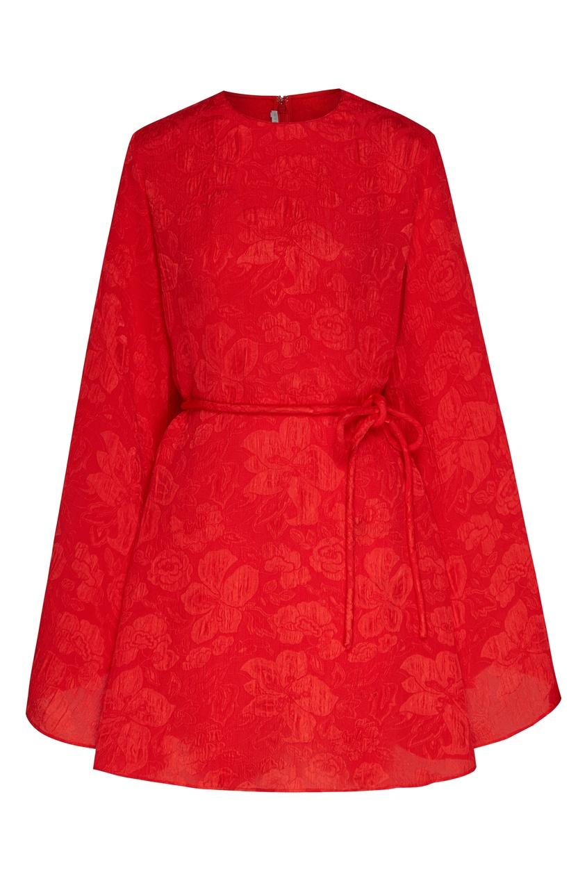 женское шелковые платье stella mccartney, красное