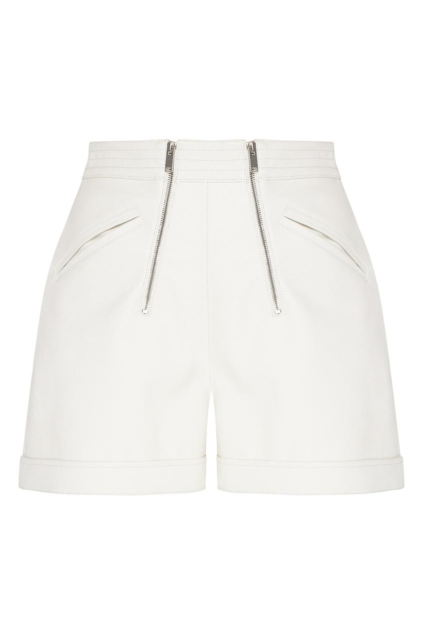 женские кожаные шорты stella mccartney, белые
