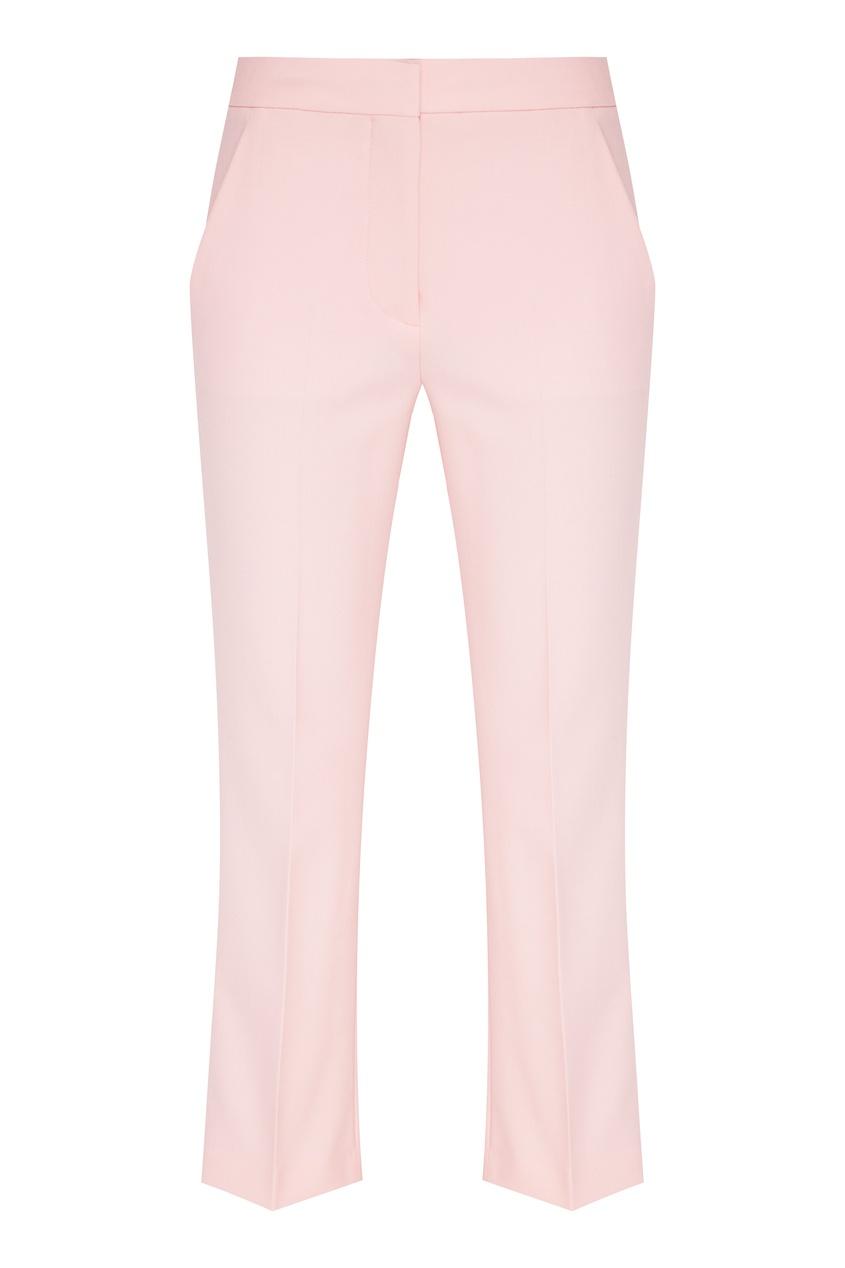 женские классические брюки stella mccartney, розовые