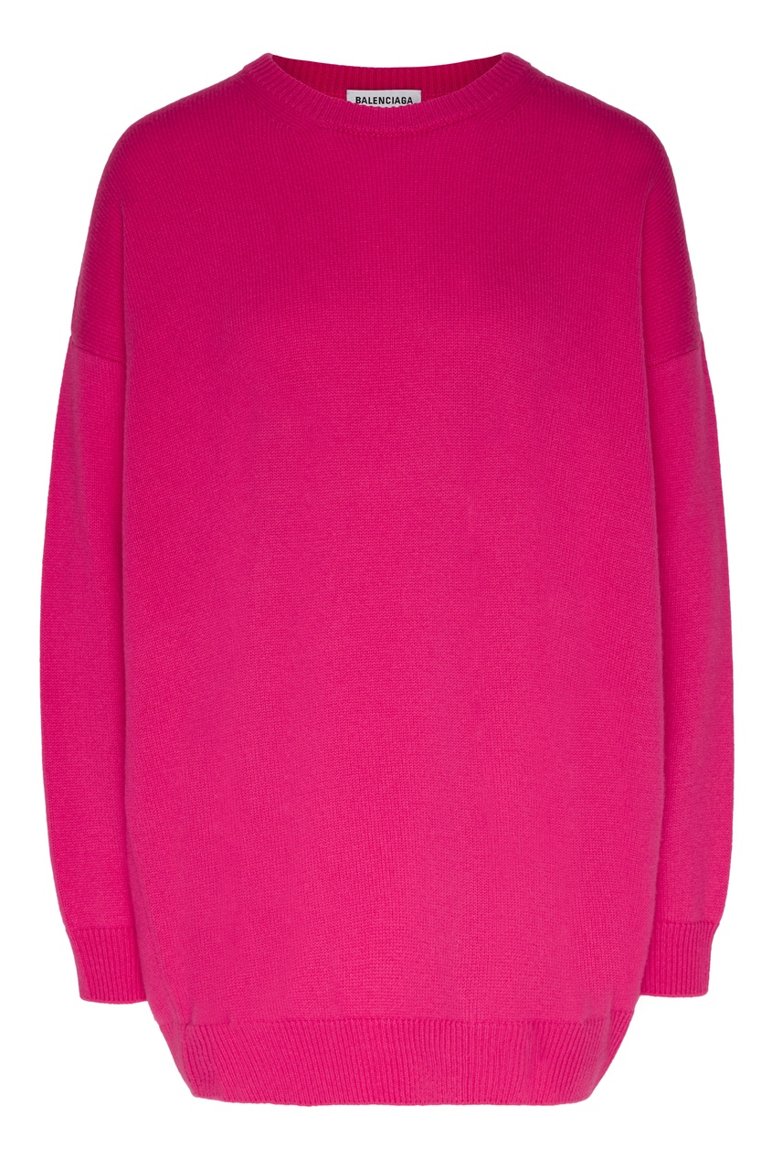 Однотонный джемпер цвета фуксии от Gucci