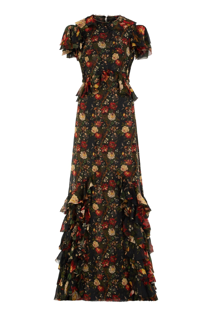 Шелковое платье Frill Seeker