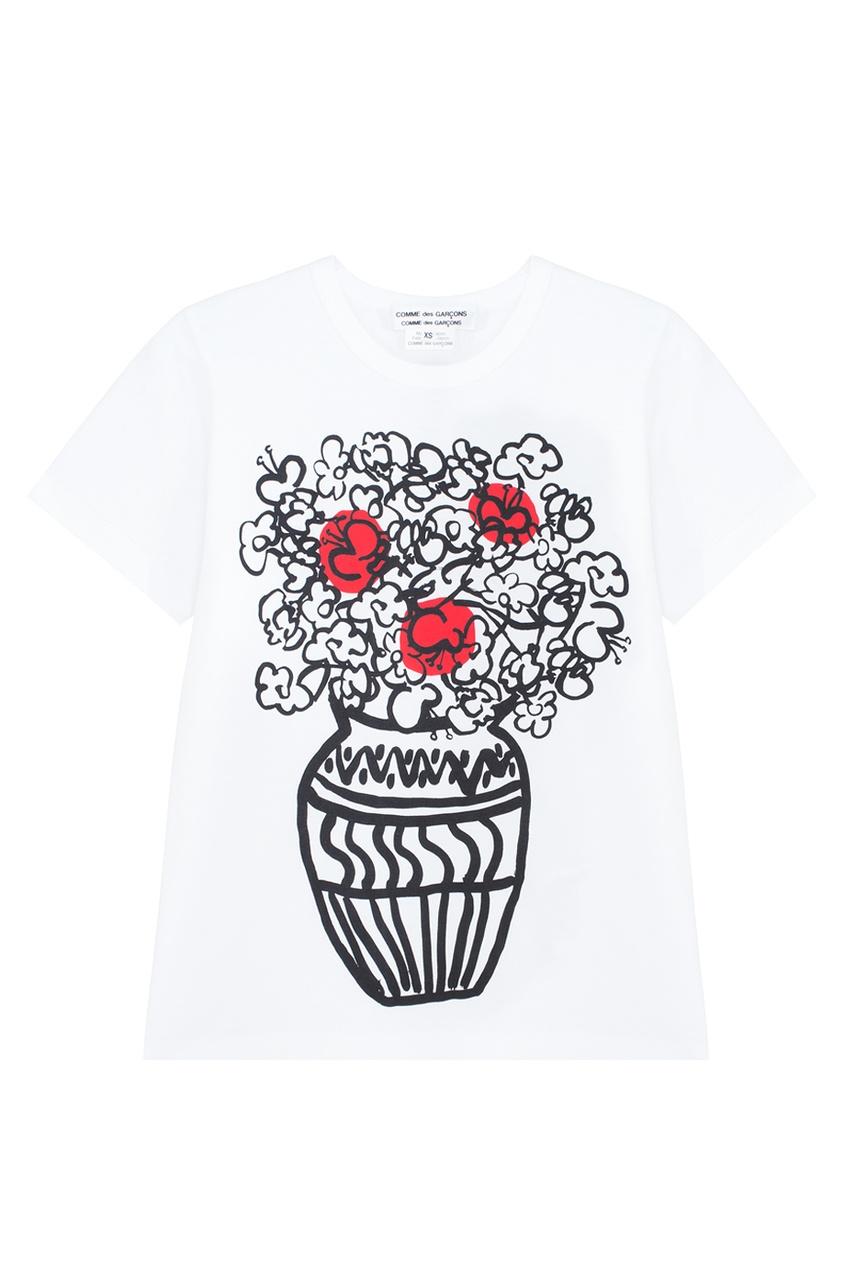 Comme Des Garcons Comme Des Garcons Хлопковая футболка