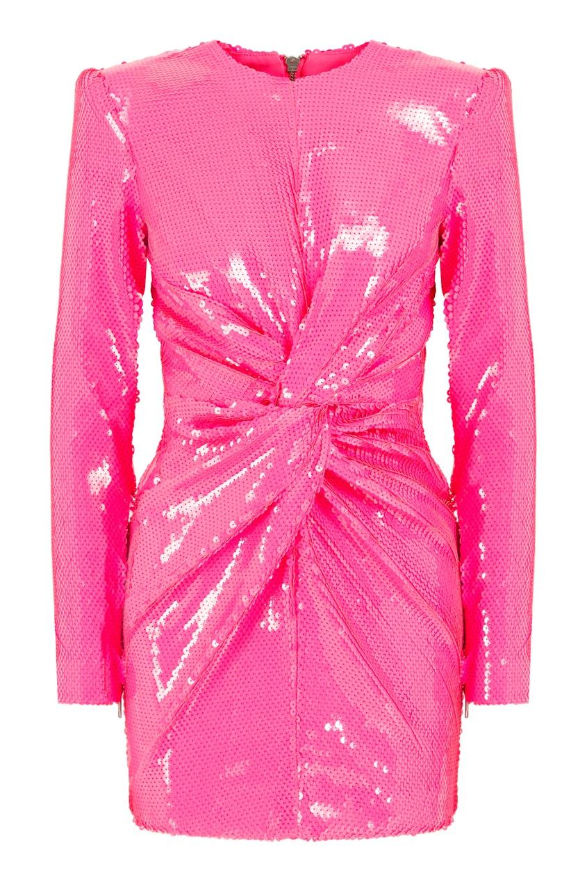 Розовое платье с пайетками Alex Perry 3168193134 розовый фото