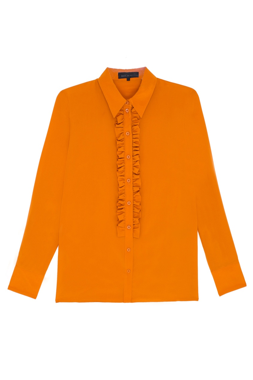 Шелковая блузка Lola American Retro 30619500 оранжевый фото