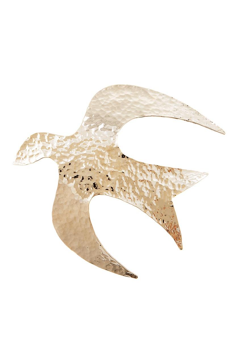 Фото 2 - Брошь от Nina Ricci золотого цвета