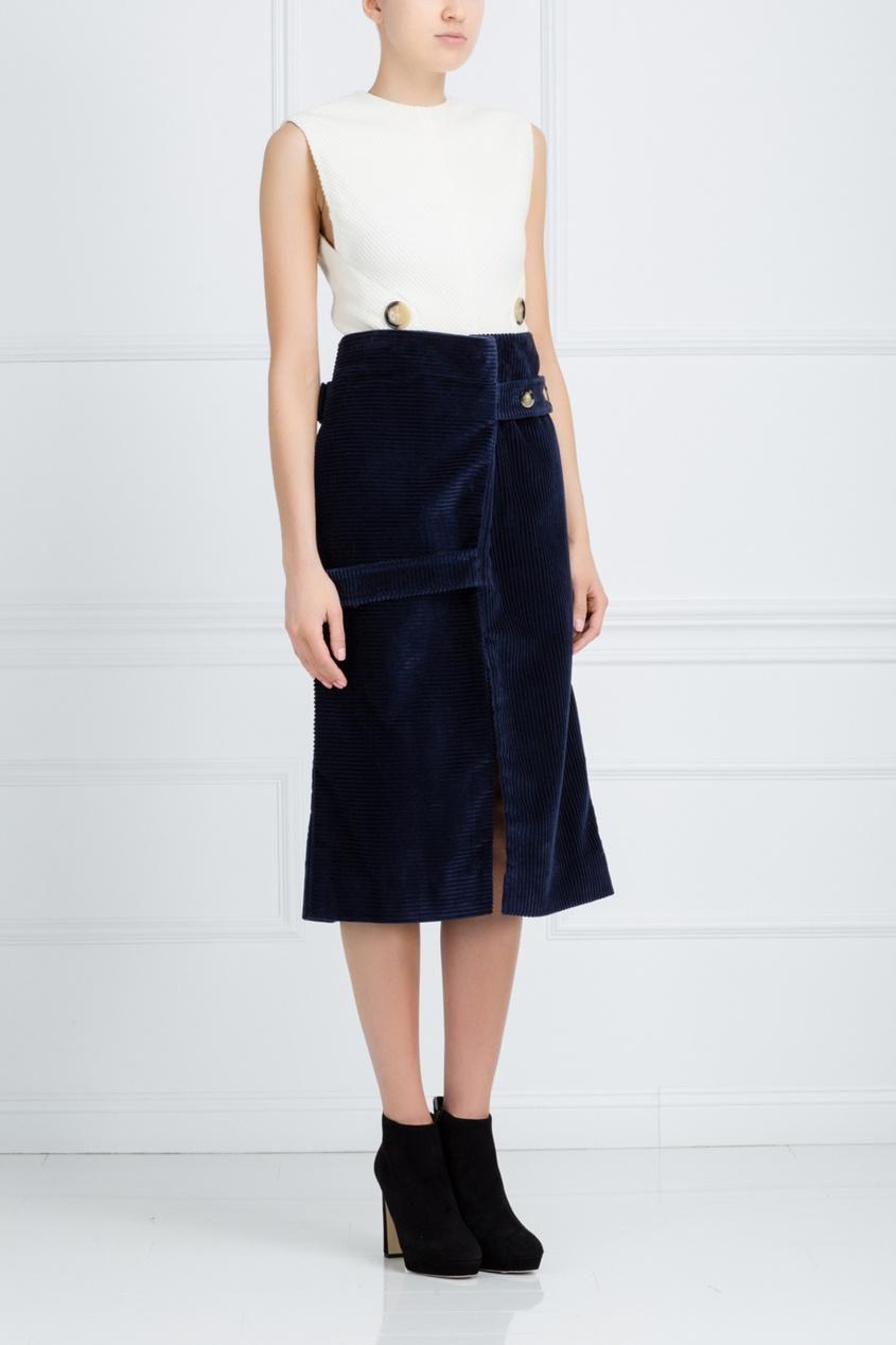 Victoria Beckham Хлопковая юбка