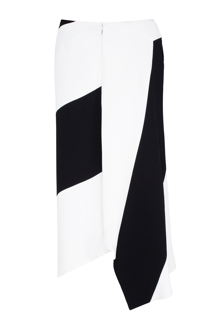 Victoria Beckham Черно-белая юбка