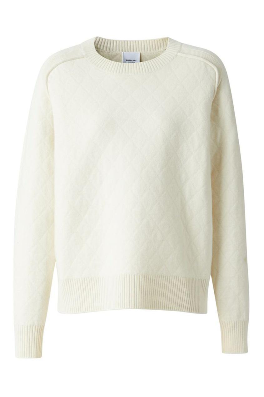 Белый свитер из шерсти