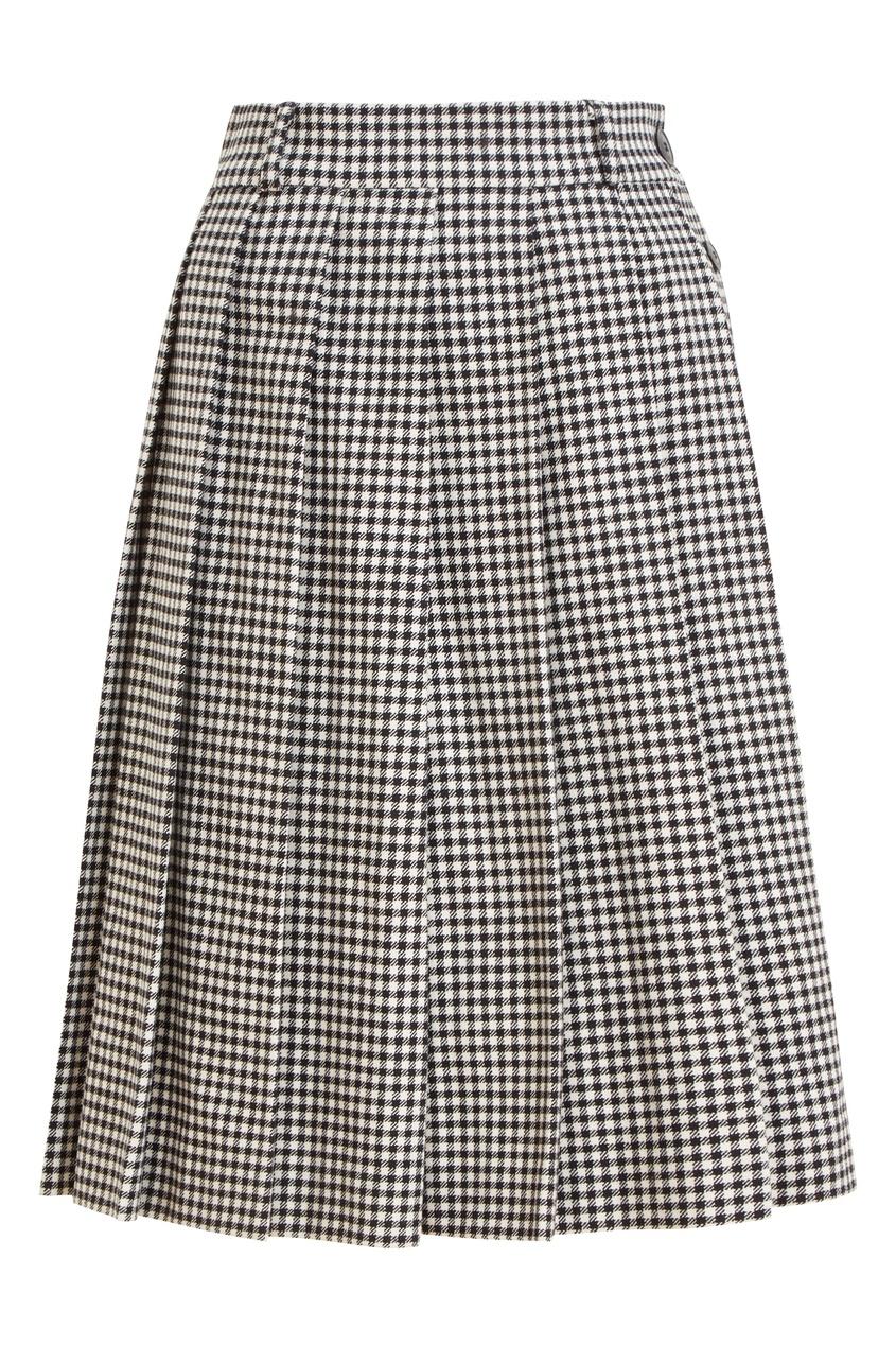 Шерстяная юбка в складку