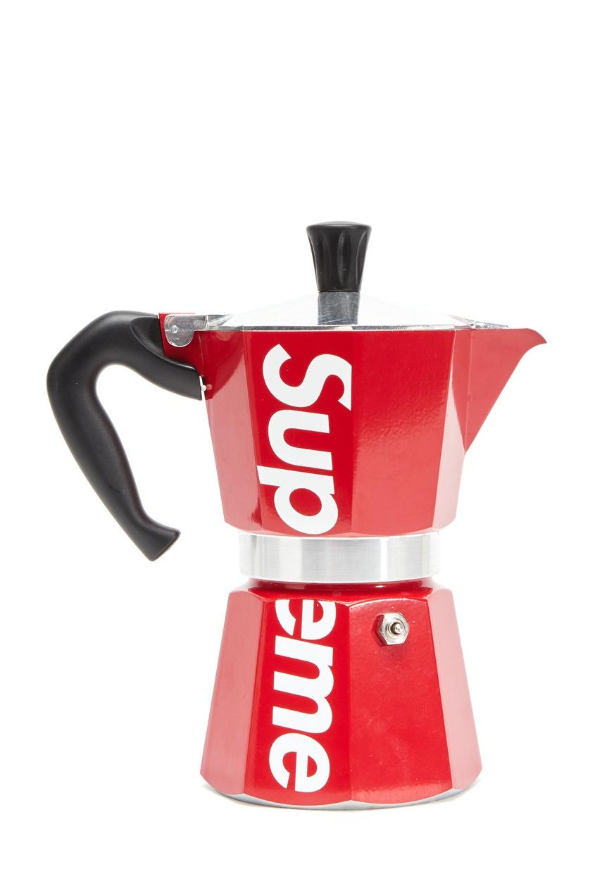 Гейзерная кофеварка Coffee Supreme. Цвет: красный
