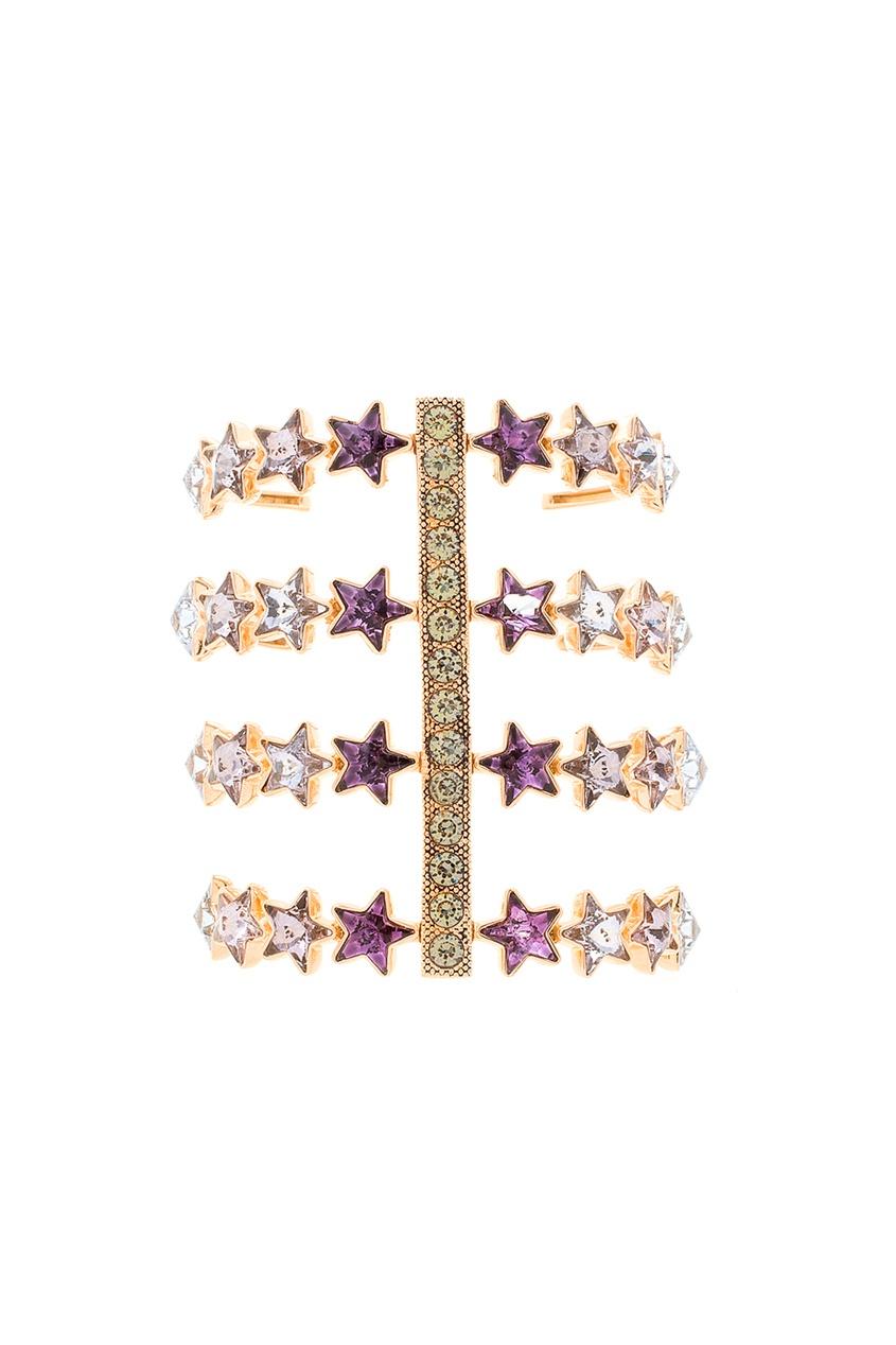 Браслет из латуни с кристаллами