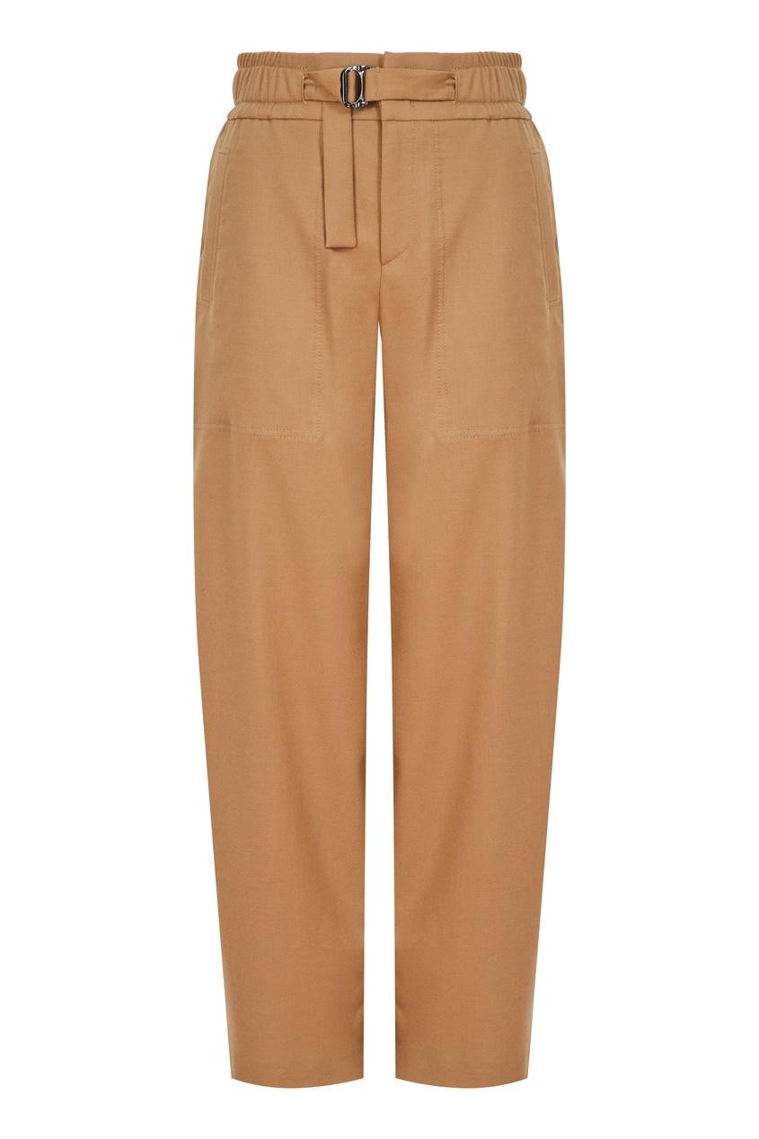 Коричневые брюки из шерсти Almea