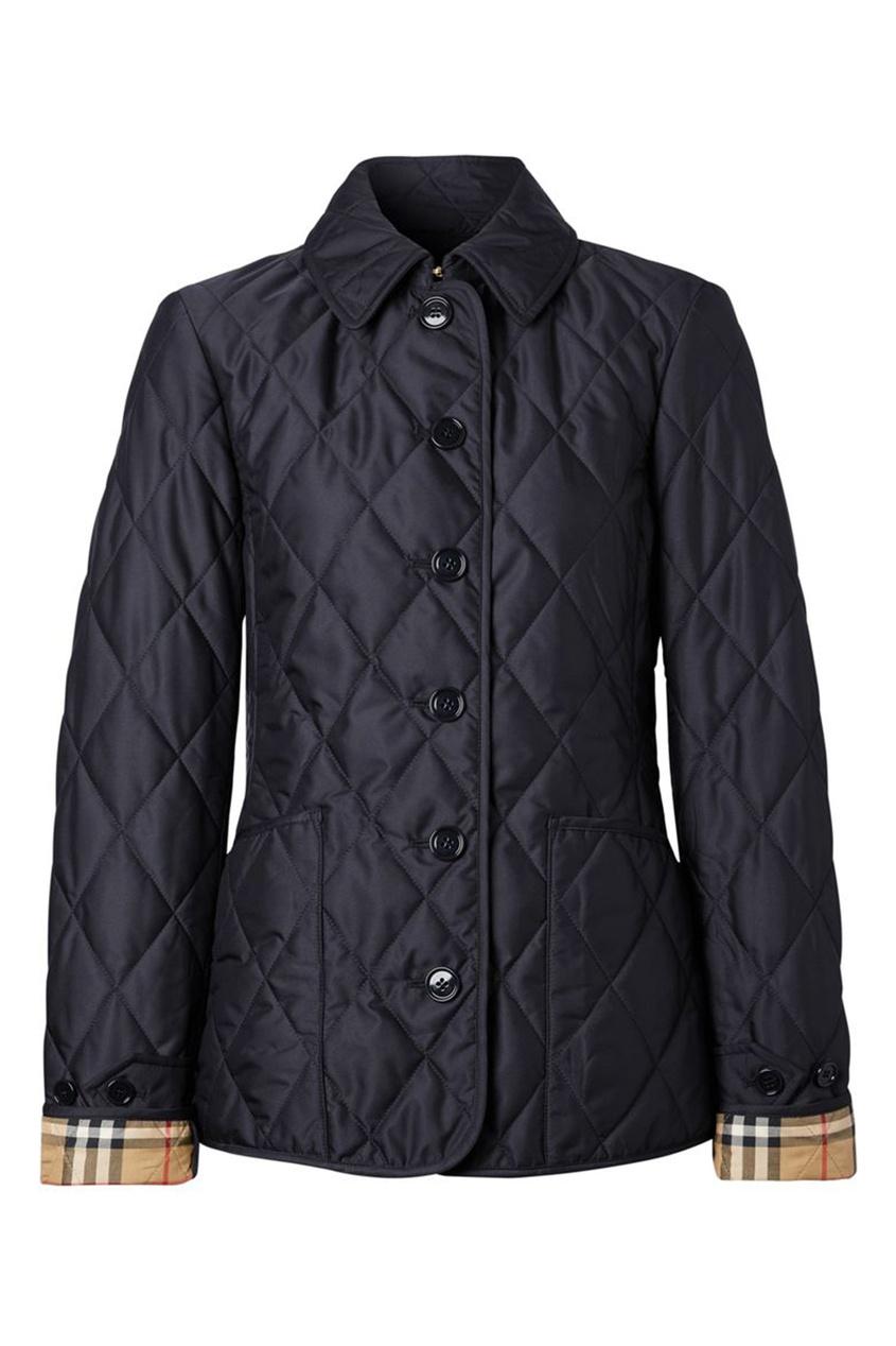 Черная стеганная куртка