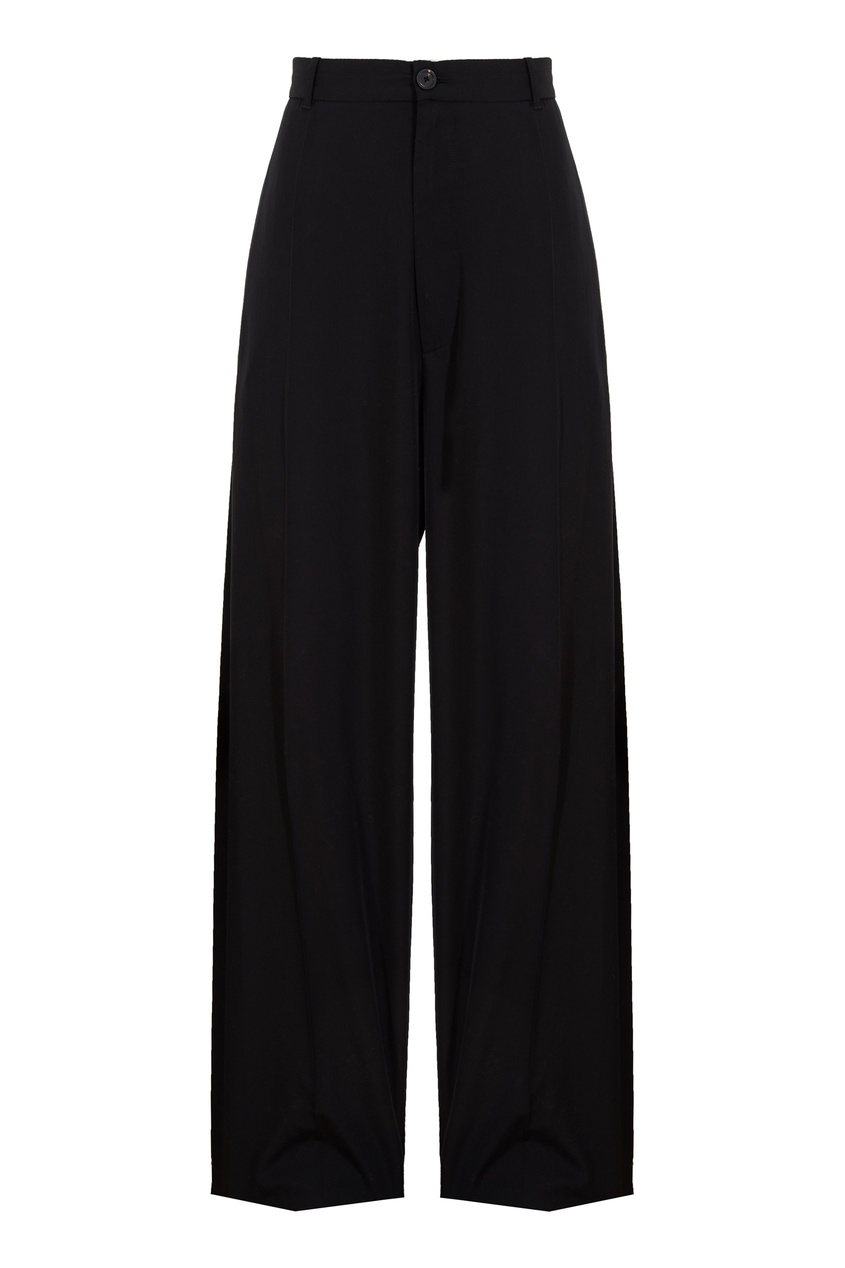 Прямые черные брюки Balenciaga черного цвета