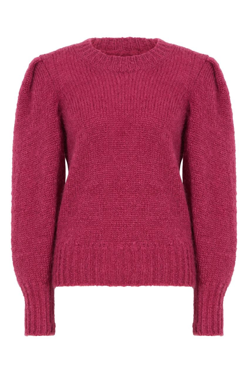 Розовый свитер из мохера Emma
