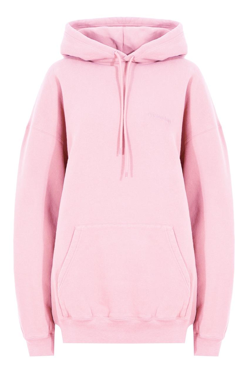 Розовое худи с логотипом