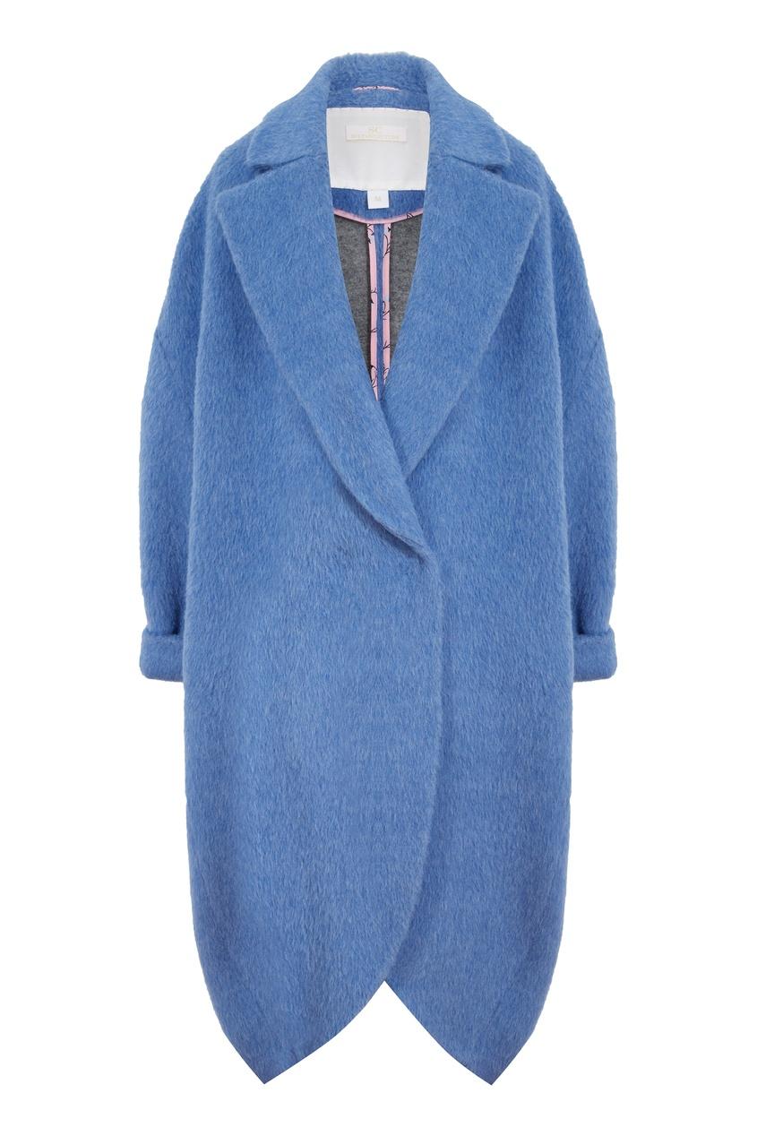 Голубое пальто из альпаки