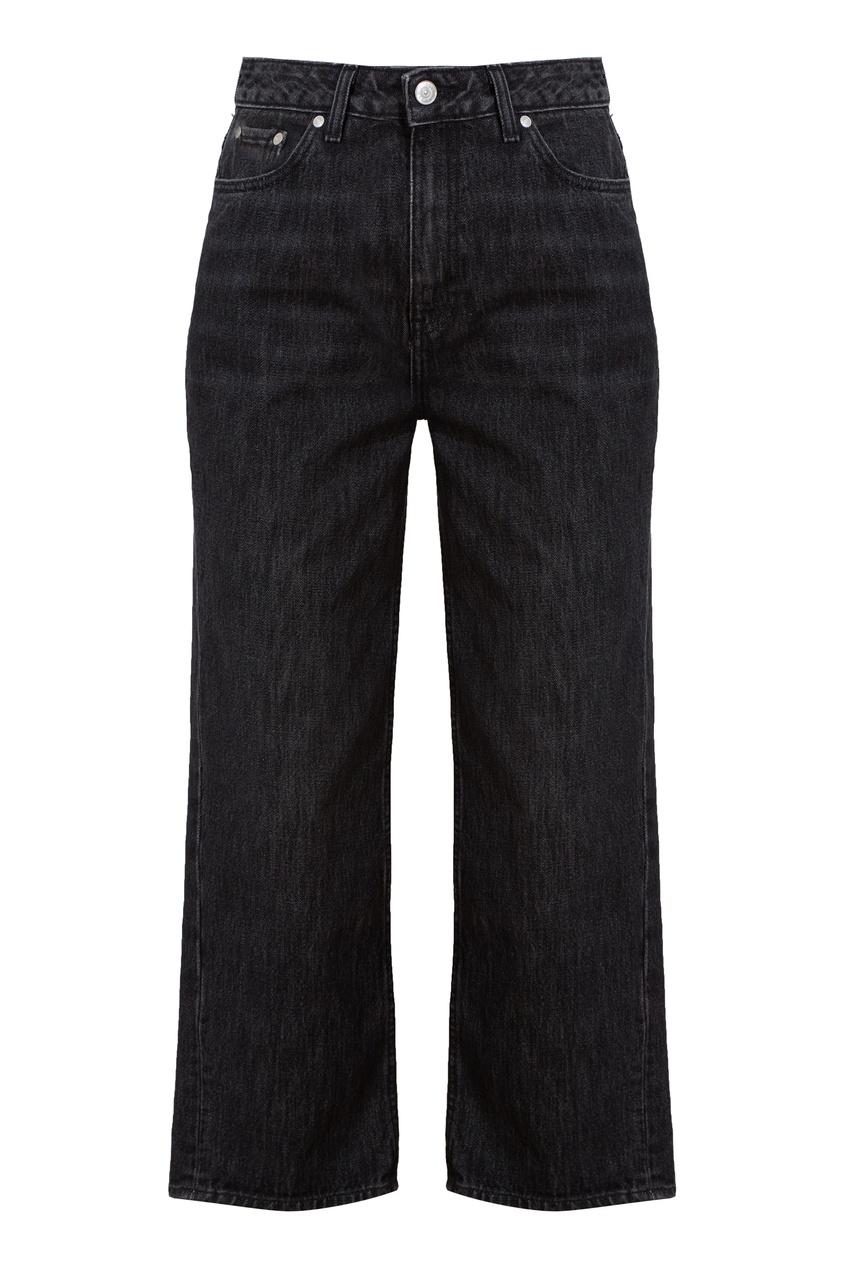 Темно-серые укороченные джинсы