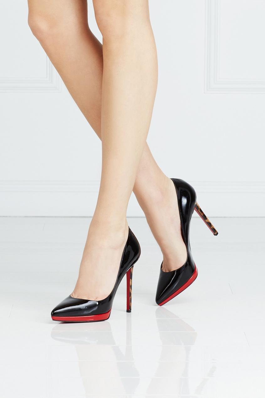 Туфли из лакированной кожи Pigalle Plato 120