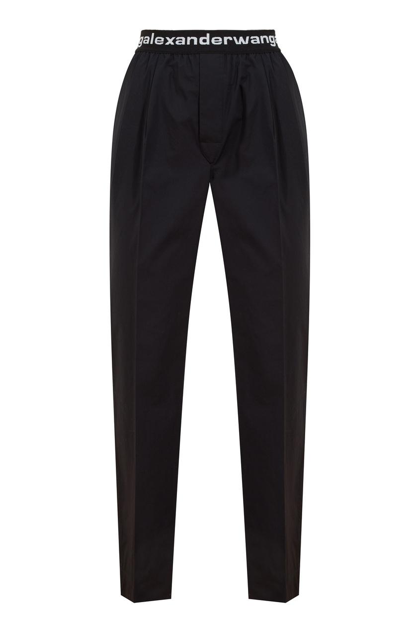 Черные брюки из хлопка