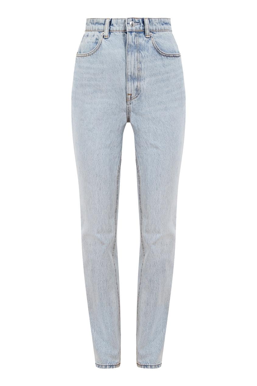Голубые джинсы с лампасами