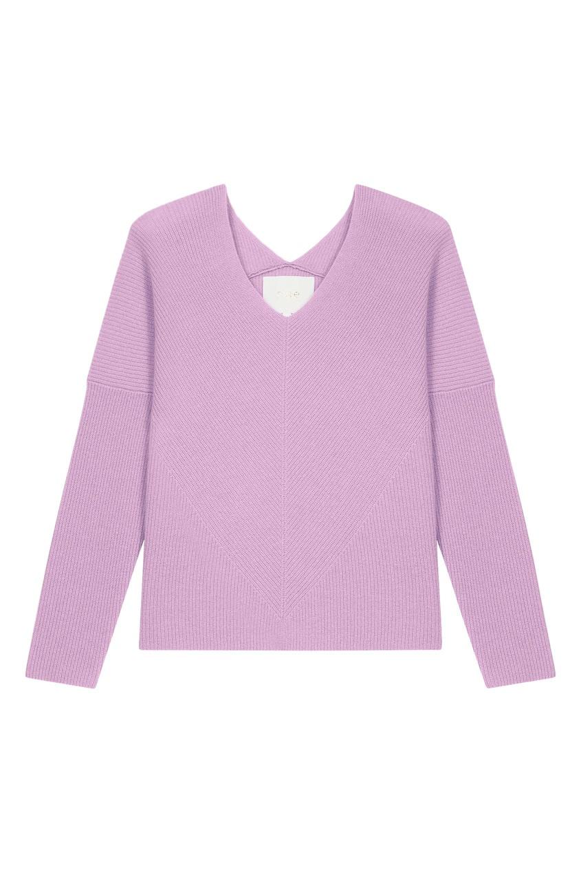 Пуловер из кашемира цвета лаванды