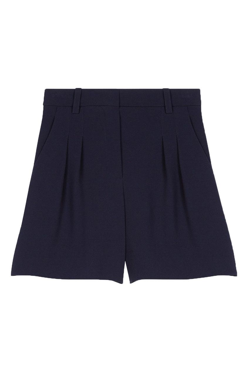 Темно-синие шорты Maje цвет морской