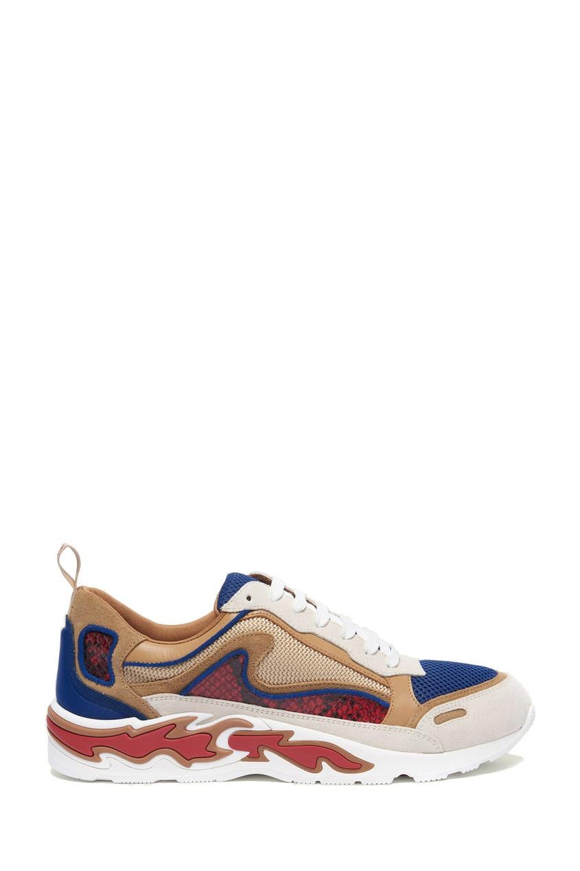 Комбинированные кроссовки Flame Sandro Песочный 914197640