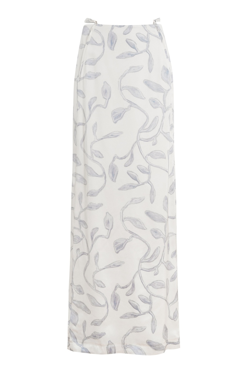 Белая юбка с принтом Novio