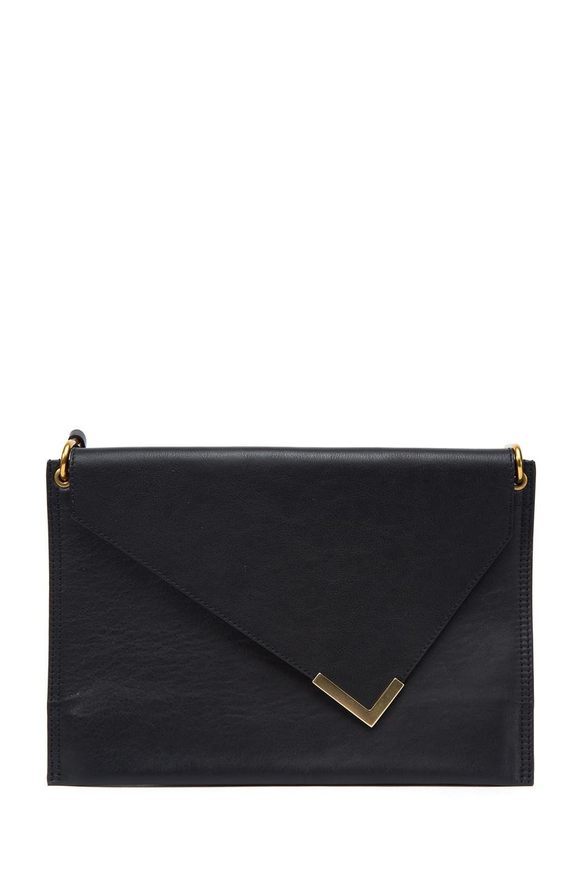 Черная кожаная сумка Tryne