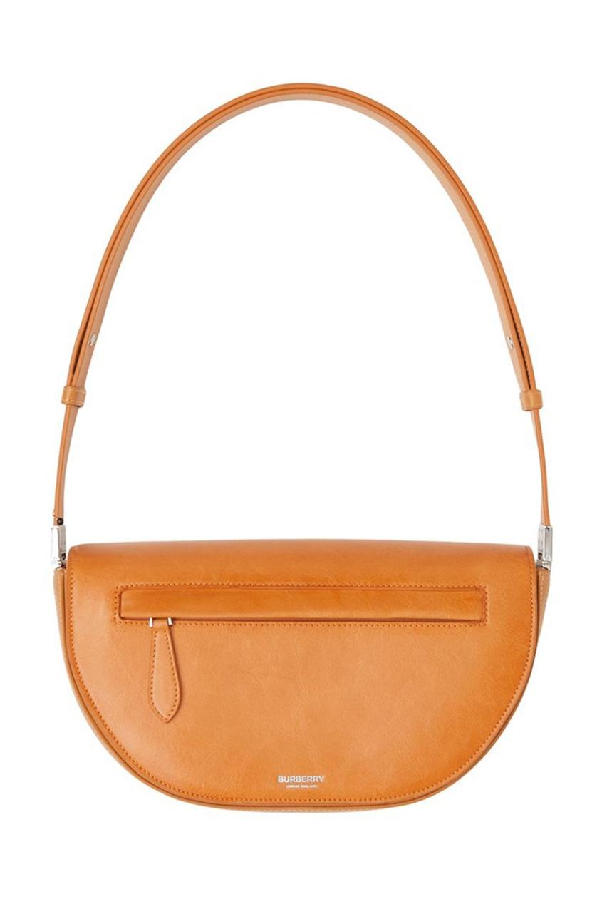 Компактная оранжевая сумка из кожи Olympia
