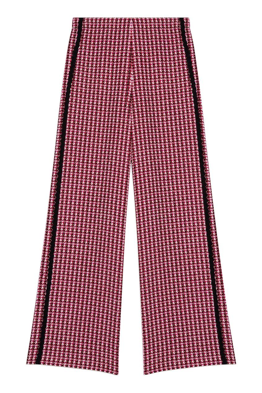 Твидовые брюки цвета фуксия