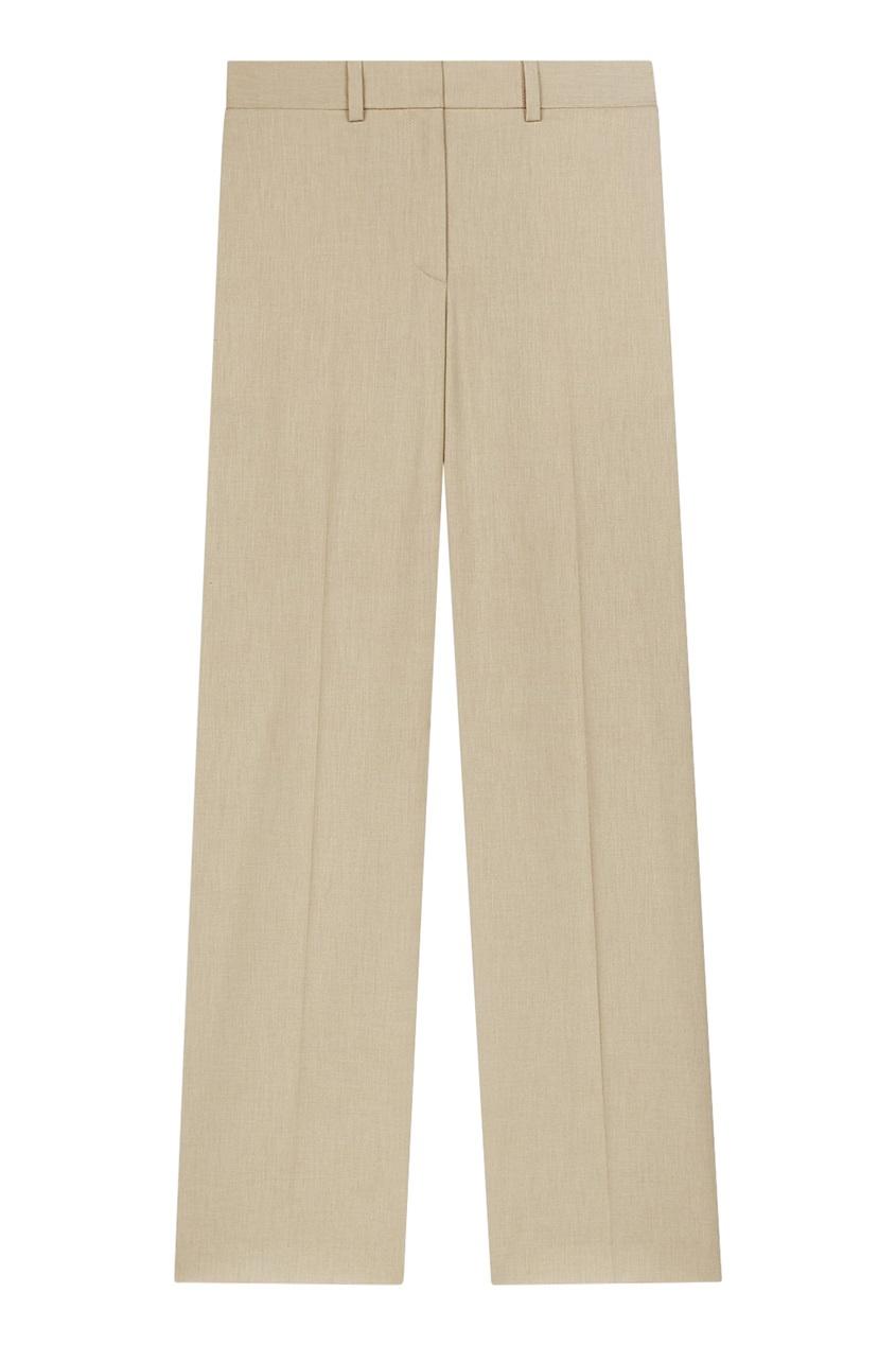 Бежевые прямые брюки