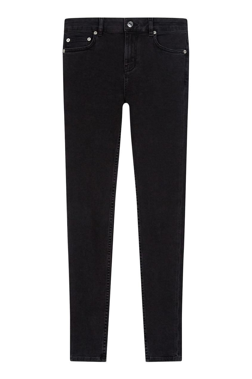 Зауженные джинсы цвета антрацит