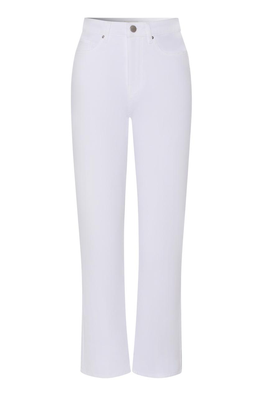 Белые прямые джинсы