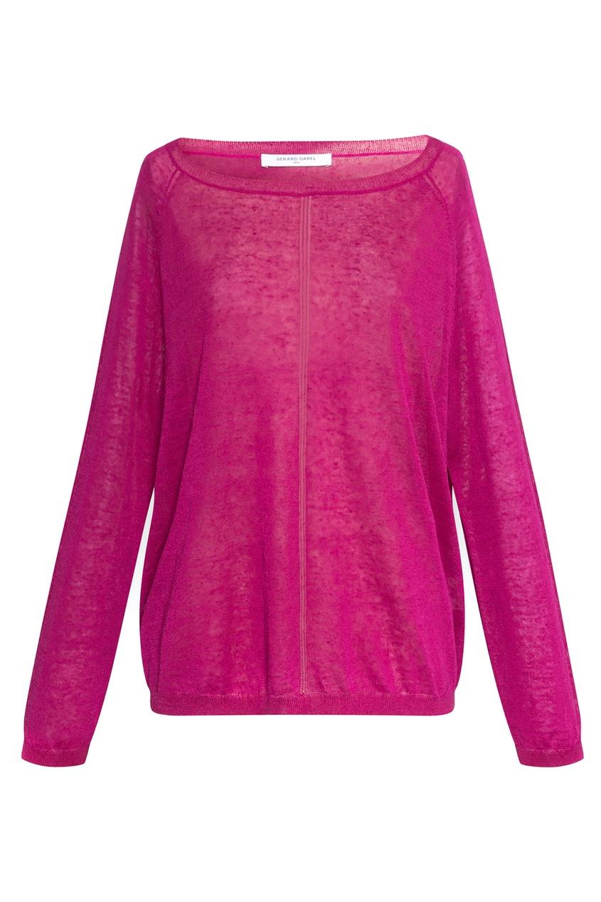 Льняной джемпер розового цвета