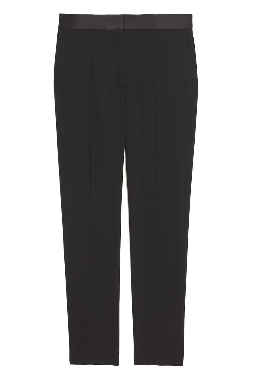 Черные укороченные брюки со стрелками