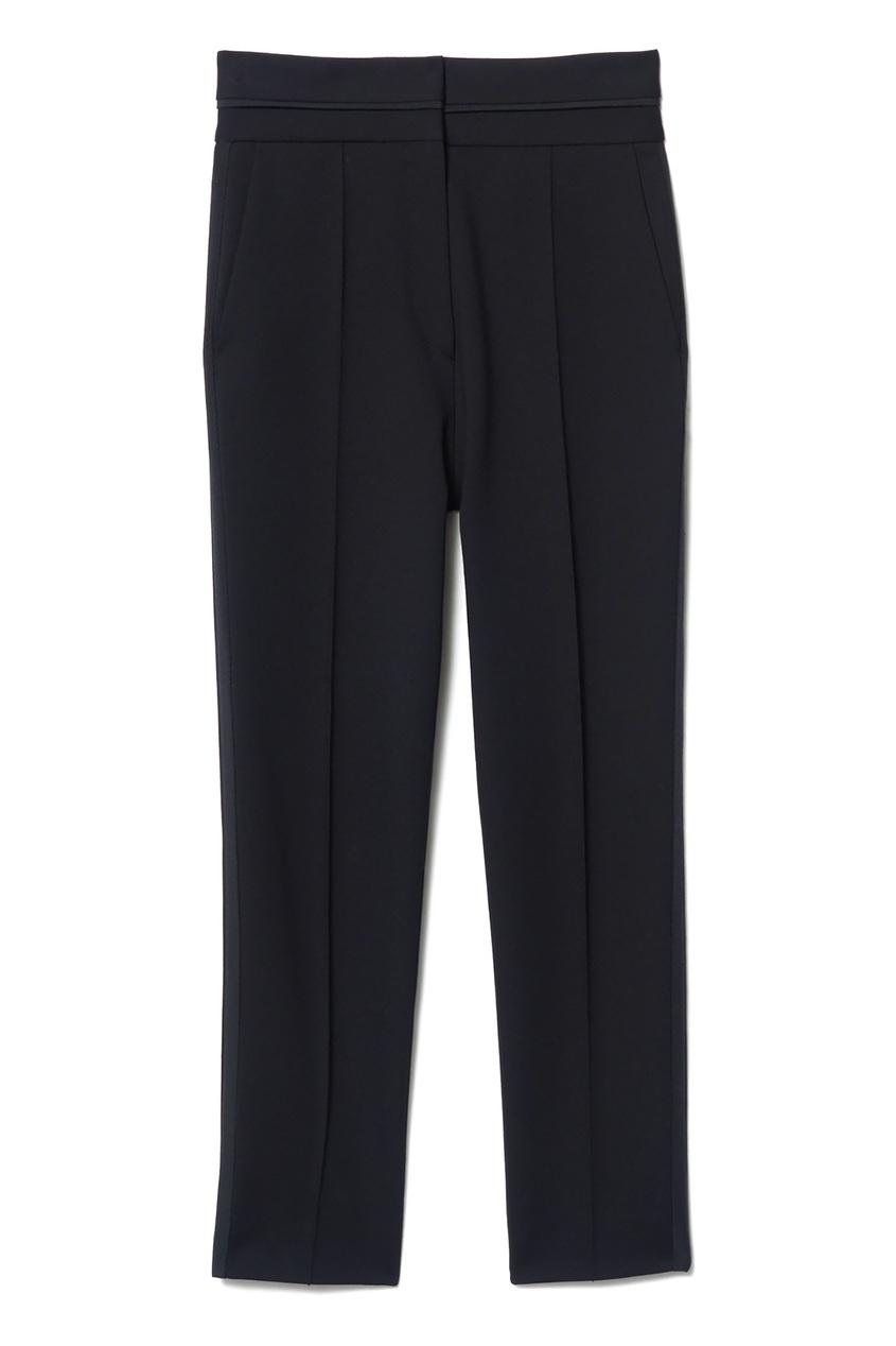 Прямые укороченные брюки черного цвета