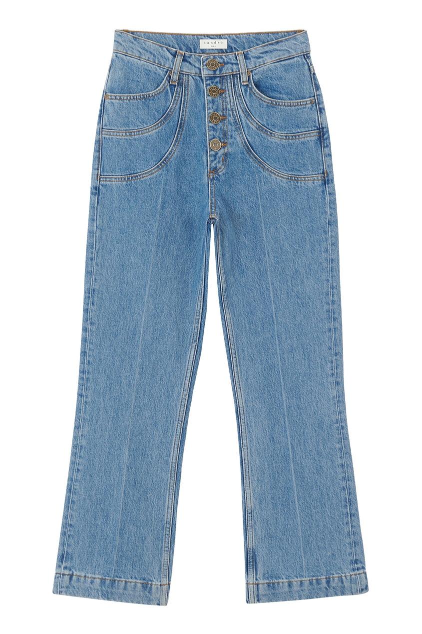 Голубые джинсы со стрелками