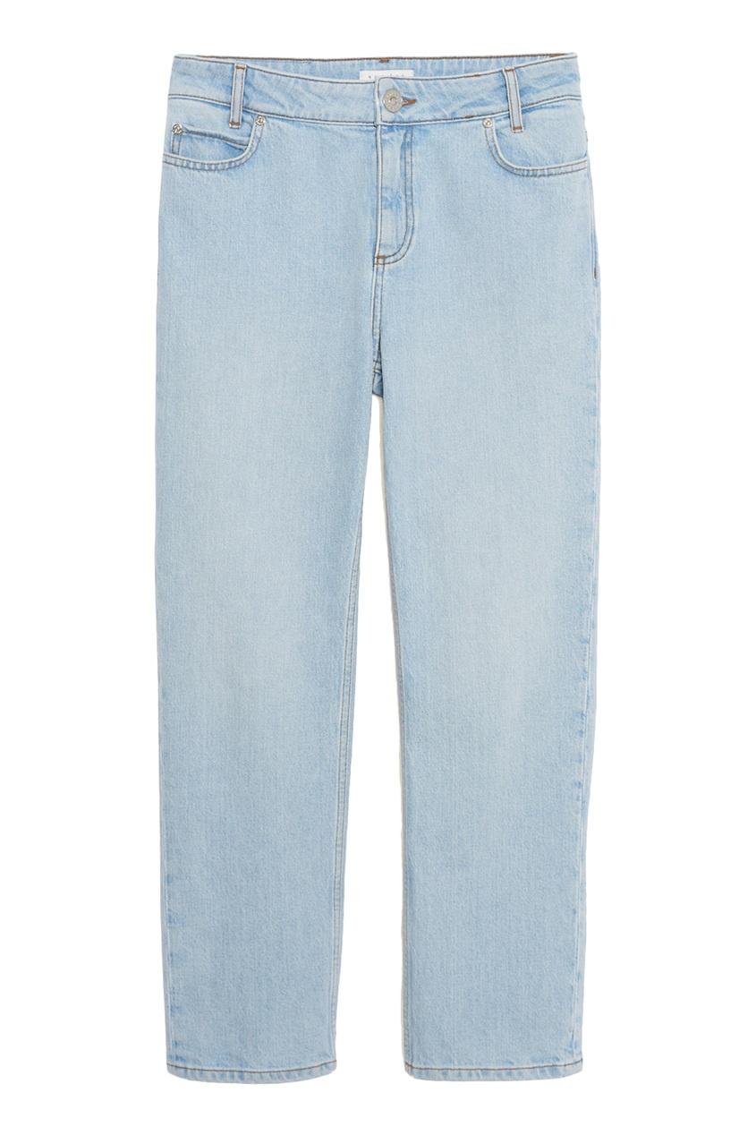 Выбеленные укороченные джинсы