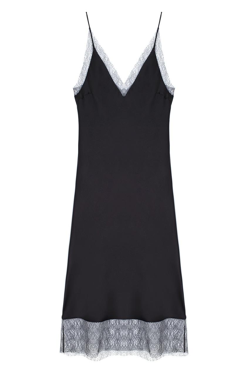 Фото - Прямое платье черного цвета