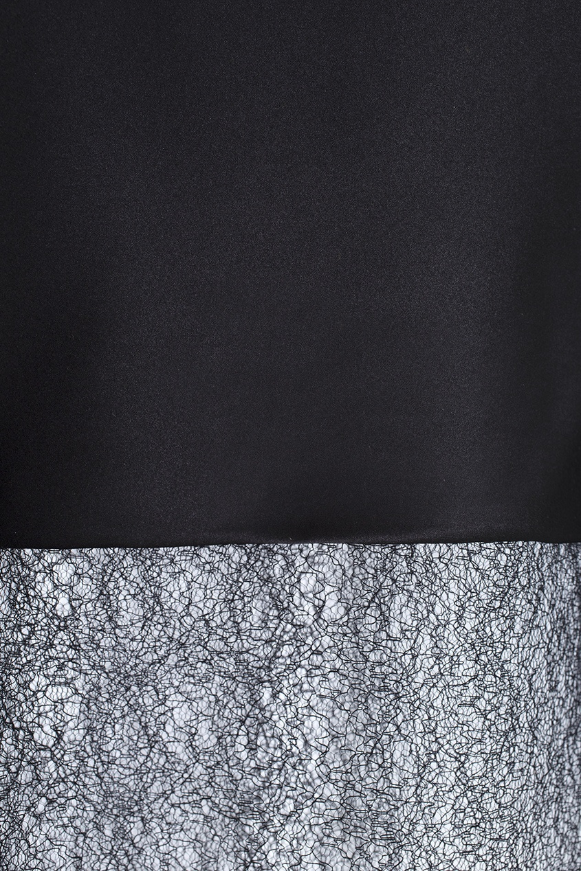 Фото 2 - Прямое платье черного цвета