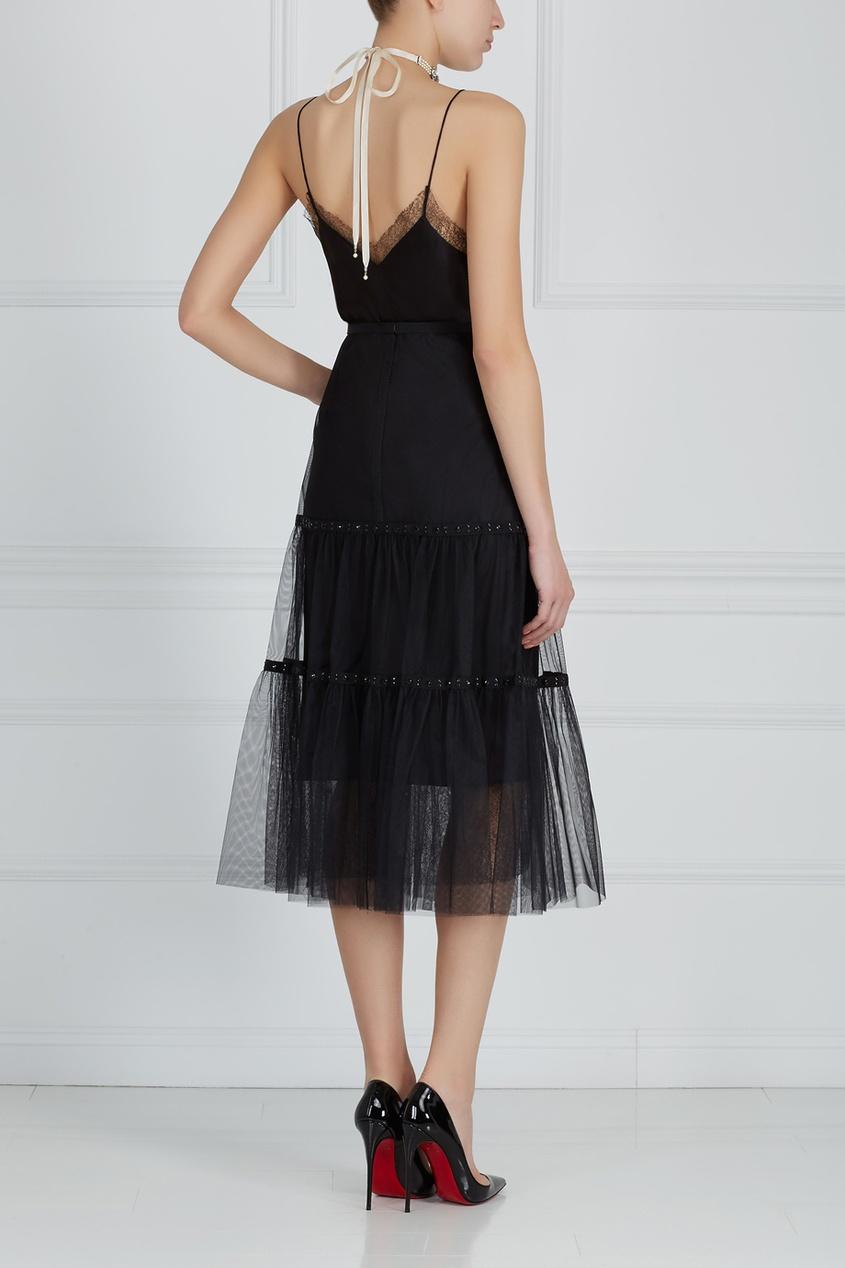 Фото 4 - Прямое платье черного цвета