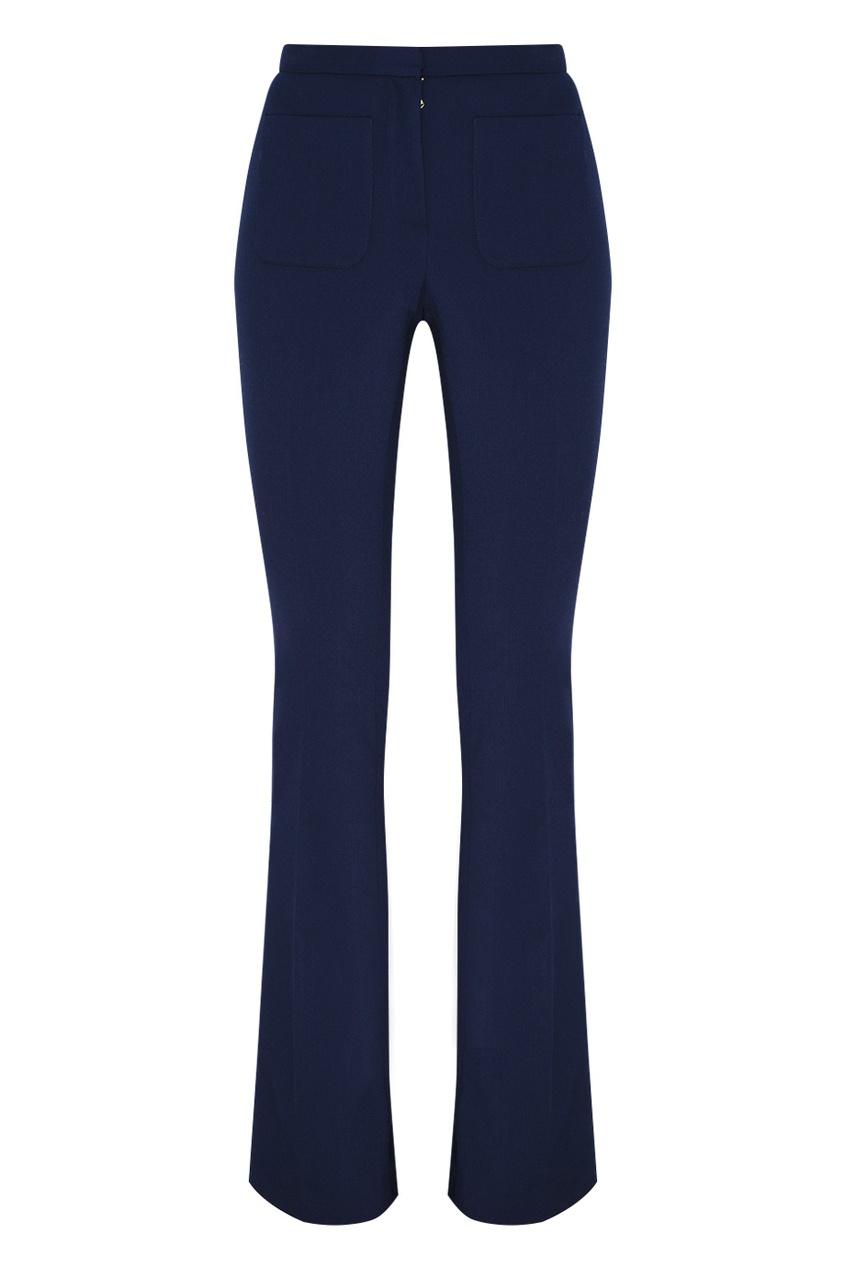 Фото - Однотонные брюки синего цвета