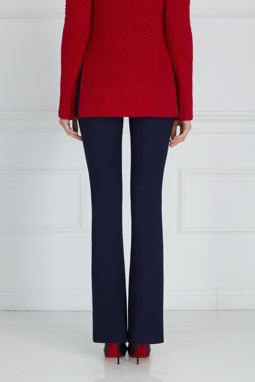 Фото 6 - Однотонные брюки синего цвета